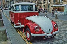 Photo: VW Camper And Trailer - Volkswagen Vehicle Volkswagen Bus, Vw Camper, Vw Caravan, Mini Camper, Vw T1, Volkswagen Models, Volkswagen Beetles, Kombi Trailer, Camper Trailers
