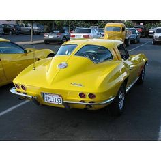 """The very popular Camrao A favorite for car collectors. The Muscle Car History Back in the and the American car manufacturers diversified their automobile lines with high performance vehicles which came to be known as """"Muscle Cars. 1963 Corvette Stingray, Yellow Corvette, Corvette Summer, Classic Corvette, Chevrolet Corvette Stingray, Old American Cars, Best Car Insurance, Chevy Muscle Cars, Hot Cars"""