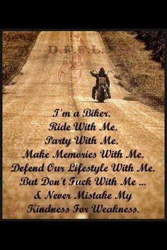 Biker-pardon the language :)