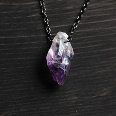 Hanging Amethyst Necklace   by Samantha Bird