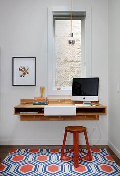 prateleira, escrivaninha, penteadeira