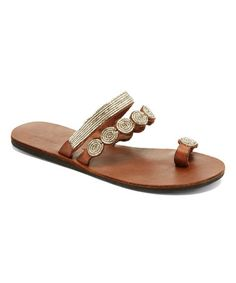 Look what I found on #zulily! Silver Mabha Leather Sandal #zulilyfinds