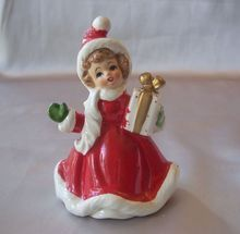 Vintage Lefton  Christmas Girl Figurine #1665