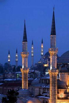 Mesquitas em Istambul, Turquia
