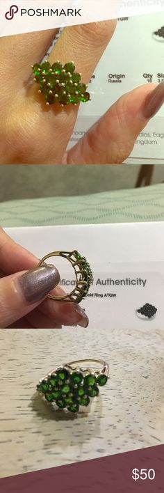 Chrome Diopside 10k ring - limited edition!! GOLD Chrome Diopside 10k GOLD Ring gemporia Jewelry Rings