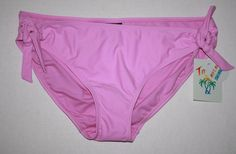 Tahiti LARGE Lavender Blush Side Tie Scoop Bikini Bottom Swimsuit Walmart NWT #Tahiti #BikiniBottom
