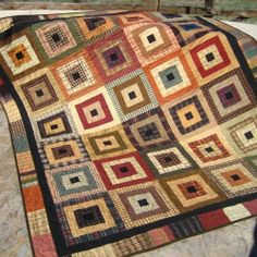 Handmade Quilt Homespun Squared.