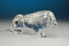 RARE HUGE VERY HEAVY  BACCARAT Crystal LION SCULPTURE FIGURINE PAPERWEIGHT