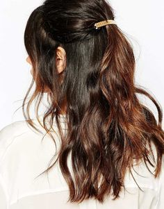 Image 1 ofSuzywan DELUXE Gold French Barette Hair Clip