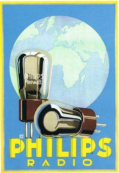Titel: Affiche voor Philips Radio, 1928  Beeld: Louis C. Kalff. Postkaart bij www.postersquare.com