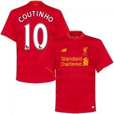 cefd558ee The Reds Philippe Coutinho 10 Red Home Soccer Jersey Football Shirt Trikot  Maglia Playera De Futbol Camiseta De Futbol