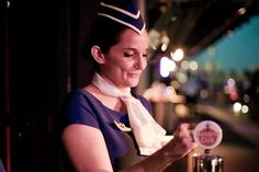 Air hostess Janah Thomas with Cuba Libres on tap Bar Hire, Bar Catering, Mobile Bar, Cabin Crew, Cool Bars, Bartender, Cuba, Kobe