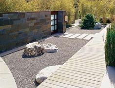 49 Pretty Rock Garden Ideas On A Budget - Garden/ landscaping - Japanese Rock Garden, Japanese Garden Design, Zen Rock Garden, Japanese Gardens, Modern Landscaping, Backyard Landscaping, Landscaping Ideas, House Landscape, Landscape Design