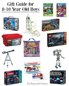 Love these gift ideas for year old boys. Great ideas for Christmas or birthday presents. Birthday Gifts For Boys, Birthday Presents, Boy Birthday, Gifts For Kids, Boy Gifts, Birthday Ideas, Christmas Gifts For 10 Year Olds, Christmas Ideas, Frugal Christmas