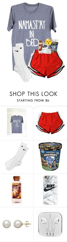 """""""Goodnight y'all"""" by evedriggers ❤ liked on Polyvore featuring NIKE, Casetify and Honora"""