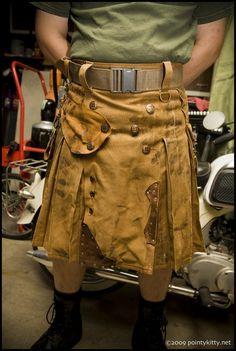 Steampunk Welder's Kilt by techdragon on Etsy, $425.00