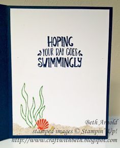 Craft with Beth: Seaside Shore Ahoy There Card thinking of you birthday Stampin' Up!
