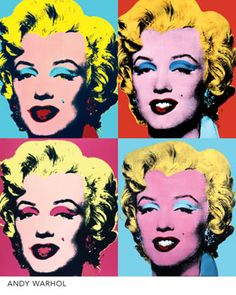 New topic @ school is ANDY WARHOL, and I am in love with the design of his pop art pieces