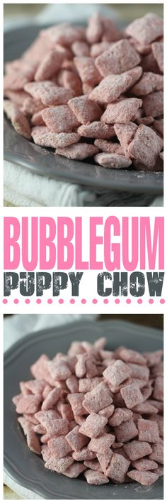 Bubblegum Puppy Chow: Addicting bubblegum puppy chow with only 4 common ingredients!