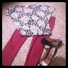 Sheer see through dolman top Sheer see through dolman top black with gray rose design Body Central Tops Tunics
