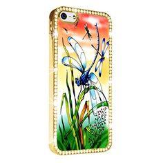 Dragonfly Cute Art iPhone 5/5S Case Cover Diamond Crystal Rhinestone Bling Hard Gold Case Cover Protector PAZATO http://www.amazon.com/dp/B00NSD3AG2/ref=cm_sw_r_pi_dp_ouziub1VTG9ZV