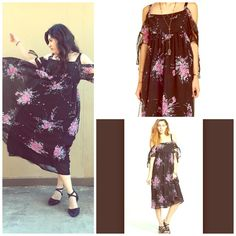 FREE PEOPLE Floral Midi NWT NWT and SOLD OUT EVERYWHERE!  So gorgeous, feminine and flowing.  Free People Dresses Midi