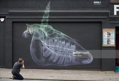 Artwork by Shok-1 is seen as part of the 2016 Upfest on July 27, 2016 in Bristol, England. The annual event, which this year helped celebrate 45 years of the Mr Men and Little Miss book series, started in 2008 and is said to be the largest free street art and graffiti festival in Europe. The festival now attracts more than 300 artists including Inkie, Jody, Pichi & Avo and Leon Keer from 25 countries to paint live on walls and surfaces around Bedminster and Southville areas of the city of…