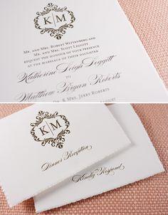 invitations and idea for cake monogram