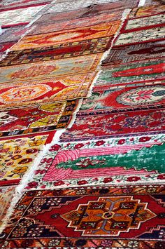 Selcuk: Isabey Mosque, prayer mats by brassbounder, via Flickr