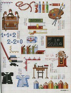 Cross Stitch Family, Cross Stitch Letters, Cross Stitch For Kids, Cross Stitch Bookmarks, Cross Stitch Baby, Cross Stitch Charts, Cross Stitch Designs, Bead Loom Patterns, Beading Patterns