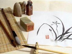 Arte Pintura Caligrafia Sumi-e China Japao