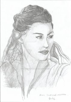 Arwen Undomiel - A study. by victorsmeneses.deviantart.com on @DeviantArt