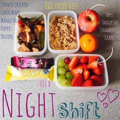 Lunch Meal Prep, Healthy Meal Prep, Healthy Snacks, Healthy Eating, Healthy Recipes, Working Night Shift, Night Shift Nurse, Shift Work, Halle Berry