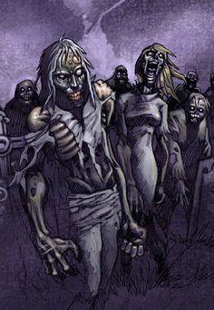 Zombie Art by Mauricio Herrera Zombie Kunst, Zombie Art, Zombie Crafts, Dead Zombie, Horror Comics, Horror Art, Zombie Drawings, Zombie Monster, Zombie Attack