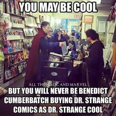 Benedict Cumberbatch as Dr. Strange. This man just keeps getting better and better