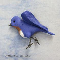 PDF Pattern Primitive Bluebird Wall Hanging $8.50 by MotherlodeToad