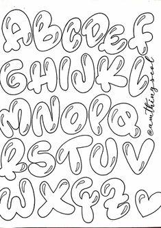 Graffiti Lettering Fonts, Hand Lettering Alphabet, Doodle Lettering, Graffiti Alphabet, Lettering Styles, Doodle Fonts, Calligraphy Alphabet, Doodle Art, Bullet Journal Lettering Ideas