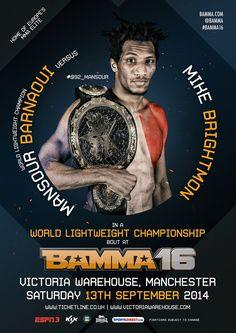 Mansour Barnaoui Vs Michael Brightmon #BAMMA16 #MMA #MixedMartialArts #UFC #BAMMA