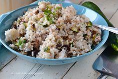 Riso freddo zucchine e tonno,un primo da portare in spiaggia o gite fuori porta,facile e gustoso!