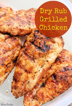 (Swap xylitol for sugar) Easy Dry Rub Grilled Chicken - Just 4 ingredients; rub…