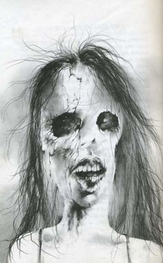 """Even as an adult, I can still remember the shocking art of Stephen Gammell. From the """"Scary Stories"""" books I read as a kid. I just found out they republished the series after thirty years -- and they replaced all the illustrations. Nothing can replace these ever memorable images I grew up with."""