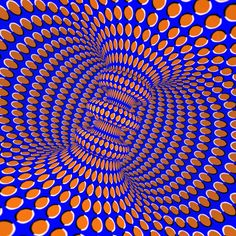 Optical illusion. moving art, or is it?