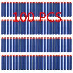 100pcs/set Soft Head 7.2 cm Refill Bullets Darts for Nerf N-strike Elite Series Blasters Magazine Kids Toy Gun Mega 10 Color