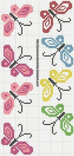 Vysivani Cat Cross Stitches, Cross Stitch Bookmarks, Cross Stitch Borders, Cross Stitch Rose, Cross Stitch Designs, Cross Stitching, Cross Stitch Patterns, Baby Embroidery, Hand Embroidery Designs