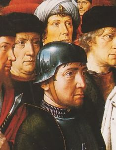 Shiny sallet (1498 Judgement of Cambyses by Gerard David )