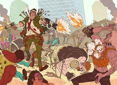 Gunrando III   by AznMexTofu - Illustrations by Afu Chan  <3 <3