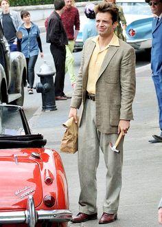 """sebastiansource: """" Sebastian Stan on set in Bray, Ireland on August 9th, 2016. """""""