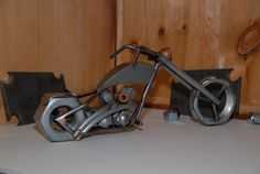 Scrap Metal Chopper Scrap Metal Motorcycle by lakeeffectmetalart