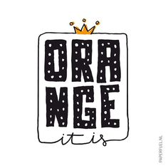 Orange it is! Happy Kingsday!! #lettering #handmade #handdrawn #handlettering #typography #graphic #illustration #drawing #sketch #paperfuel #kingsday