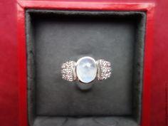 """""""Buono"""" - нежное кольцо 19,1 разм. с натуральным лунным камнем - белый"""